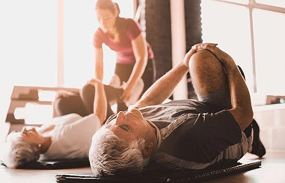Rheumapatienten beim Sport